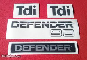 Autocolantes/Stickers Land Rover Defender 90 Tdi