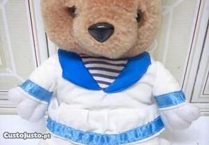 Boneco ursinho marinheiro tecido