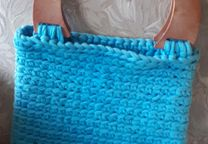 Carteira de farrapilho Azul