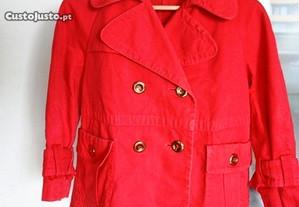 Casaco 100 por cento algodão vermelho ZARA t. L