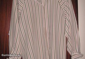 Camisa de Seda Riscas
