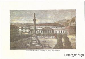 Gravura- Theatro de D.Maria II,no Rocio
