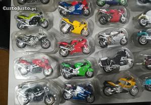 Colecção de motos miniaturas