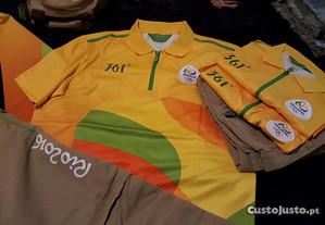 KIT completo uniforme oficial voluntário Rio 2016