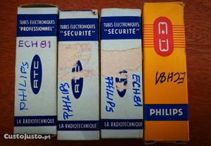 2 pares de válvulas Philips ECH81