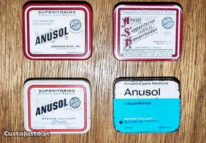 Latas de amostra medica Anusol