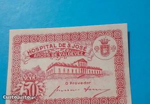 Nota-cédula 50 centavos Arcos de Valdevez