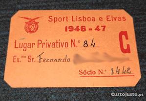 Cartão do Sport Lisboa e Elvas