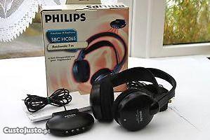 2 PHILIPS Stereo Wireless Headphones TV, Hi-Fi, PC