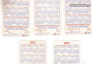 Calendários numerados / séries