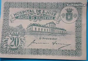 Nota-cédula 20 centavos Arcos de Valdevez