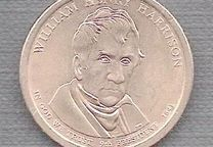 Moeda USA - Dollar 9 Presidente William Harrison