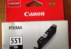 Tinteiro Preto Canon CLI-551 BK Original Novo