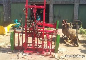 Maquina agrícola, corta blocos