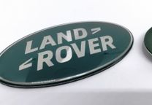 Simbolo land rover grelha mala verde 85x44mm