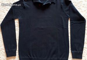 Camisola zippy boy cor azul marinho, tamanho 11/12 anos