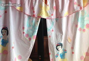 Cortinados quarto de menina Princesas Disney