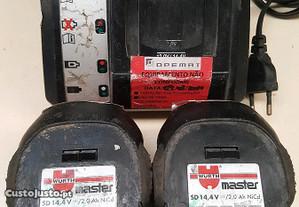Baterias wurth com carregador 18v