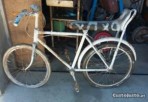 Bicicleta Esmaltina de banco corrido antiga