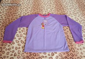 camisolas polares / pijama - minnie snoopy 14 anos