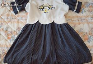 vestido menina 10 anos - cerimonia - azul / verde