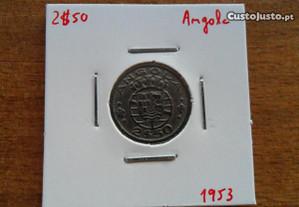 Moeda 2$50 1953 Angola