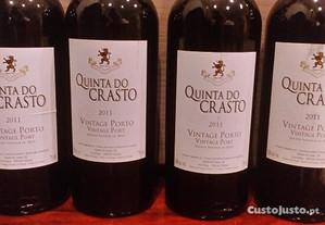 4 garrafas vinho do porto vintage 2011