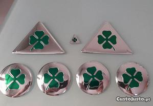 Emblemas Quadrifoglio Laterais + interior + Jantes
