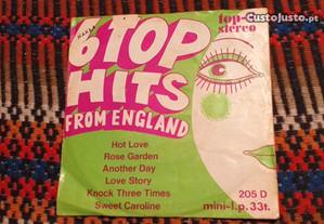 Vários - 6 top hits from England - single