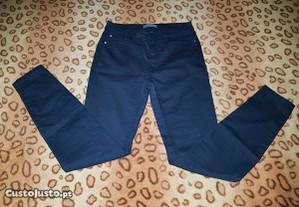calças azuis - pull and bear - tamanho 36