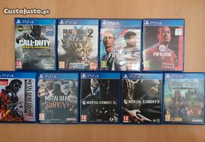 Jogos PlayStation 4 - MetalGearSolid, FIFA, MK