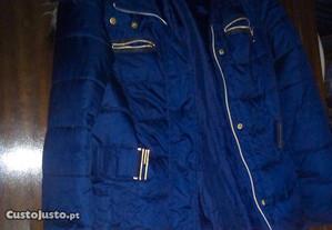 kispo azul escuro comprido c/carapuço e cinto nº38
