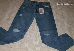 calças de ganga com rasgos tamanho 36 bsk (NOVAS)