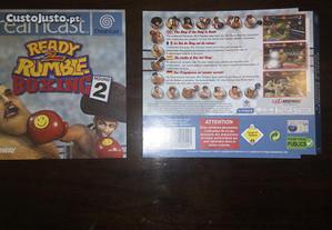 Capas e Manual Ready 2 Rumble Round 2 - Dreamcast
