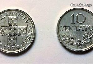 moedas de 10 centavos de 1979