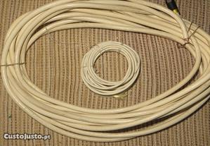Cabos Coaxial, fibra,TV c/ conetores, c/ 95% malha