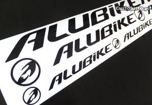 Alubike autocolantes + oferta de nome