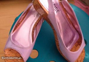 Sandálias Seaside lilás compensadas nr.37