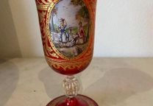 Cálice em cristal de Murano do final do Sec. XIX