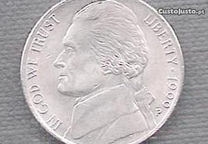Moeda USA - 5 Cent-(Nickel) 1999-P