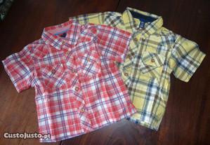 camisa em xadrez Gap