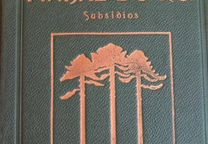 Livro O Pinhal do Rei - Subsídios