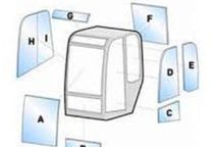Trator-Vidros cabine tratores e máquinas indust.