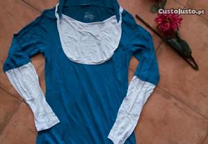 Blusa azul petróleo M
