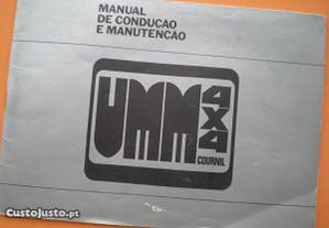 Ficheiro manual condução manutenção jipe UMM 4x4