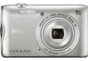 Máq. Digital Nikon COOLPIX A300 - Prateado