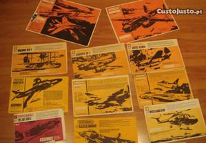 prospectos aviao KIT MATCHBOX antigos