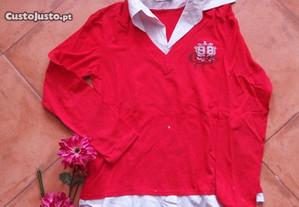 Blusa vermelha, XL/XXL, oferta dos portes