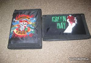 2 Carteiras Novas dos Guns n`Roses e Green Day