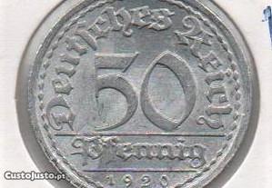 Alemanha(Rep. Weimar) -50 Pfennig 1920 A - soberba
